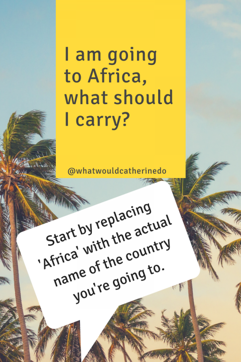 How to prepare for a trip to Africa